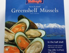 Frozen Green-Lipped Half Shell Mussels