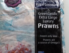 Frozen Royal Greenland Cooked Prawns (2kg)