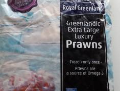 Frozen Royal Greenland Cooked Prawns (2kg)