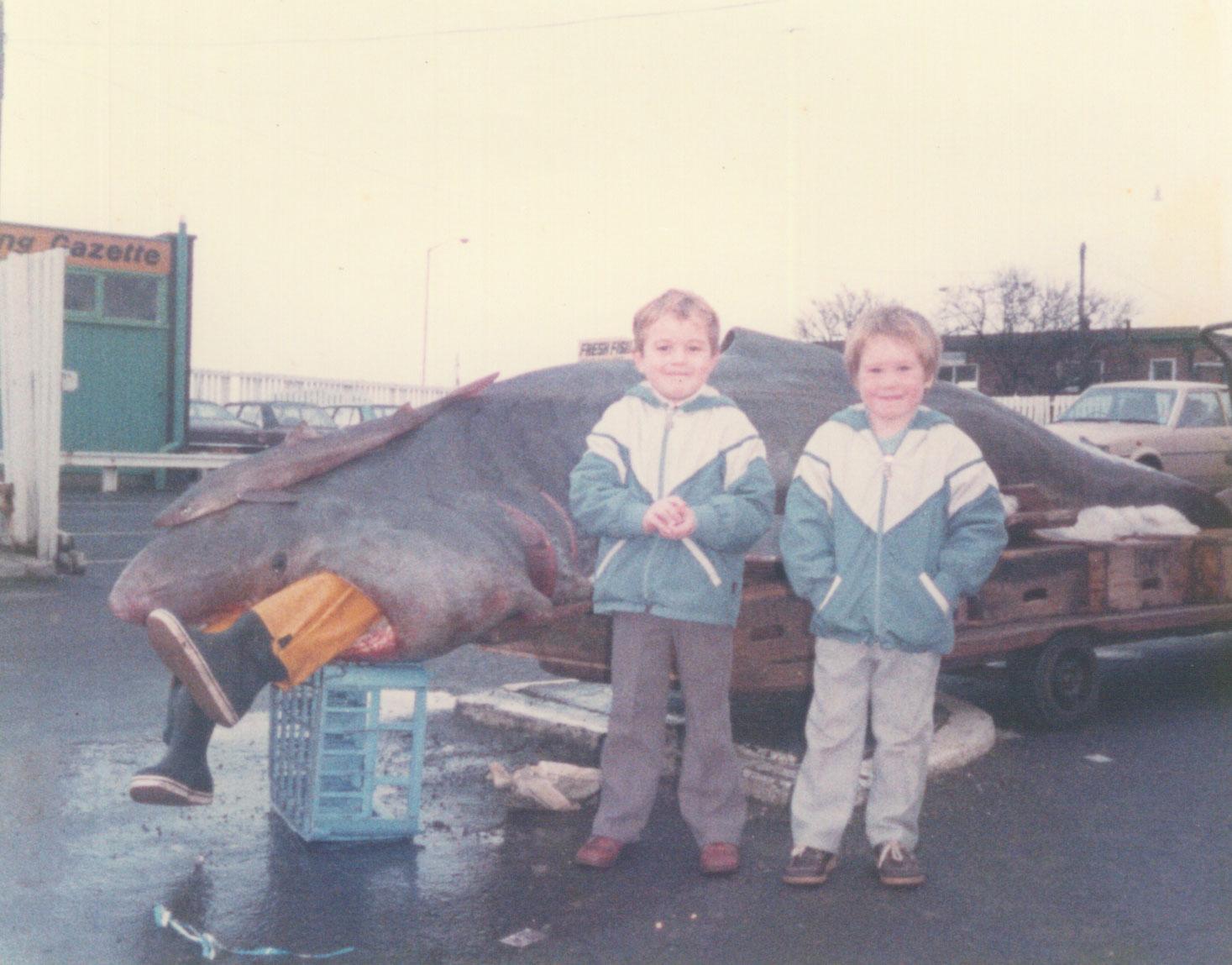 Dockside Seafood Old Photograph 2
